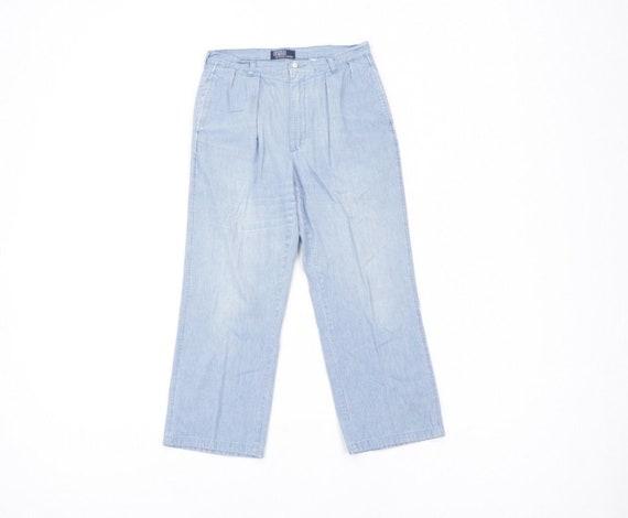 80s Polo Ralph Lauren Mens 33x28 Streetwear Chamb… - image 1