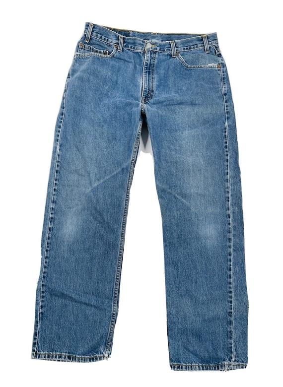 90s Levis 505 Regular Straight Leg Distressed Den… - image 1