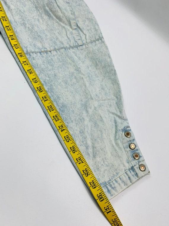 VTG 80s Streetwear Womens 10 Tapered Leg Acid Was… - image 4
