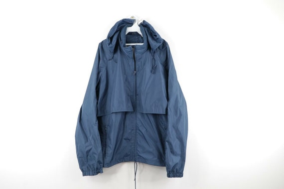 80s Woolrich Mens XL Full Zip Vented Windbreaker R