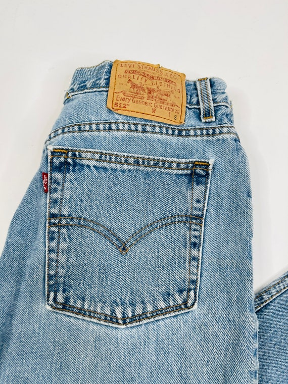 90s Levis 512 Slim Fit Tapered Leg Jeans Womens 1… - image 3