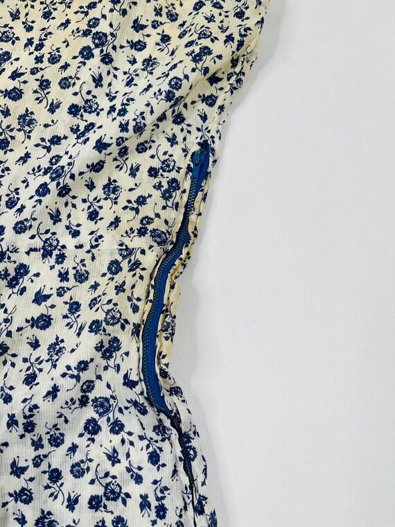 70s Womens Medium Floral Prairie Dress, Handmade … - image 2