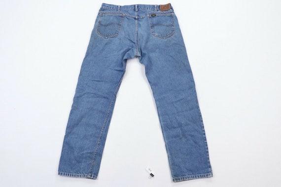 80s Lee Mens 36x30 Straight Leg Distressed Denim … - image 9