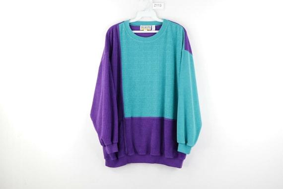 90s Streetwear Womens Plus Size 2X Color Block Ter