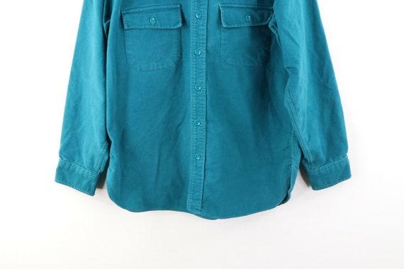 80s LL Bean Mens 16.5 Double Pocket Chamois Cloth… - image 3