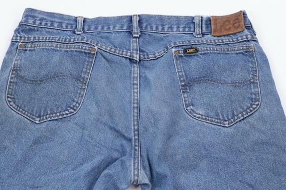 80s Lee Mens 36x30 Straight Leg Distressed Denim … - image 10