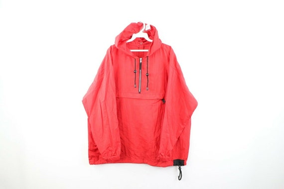 90s Marlboro Mens Medium Blank Packable Hooded An… - image 1