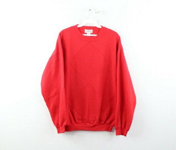 90s Streetwear Mens Large Faded Blank Long Sleeve