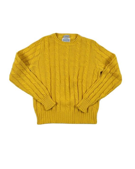 70s Rockabilly Womens Medium Mustard Yellow Cable