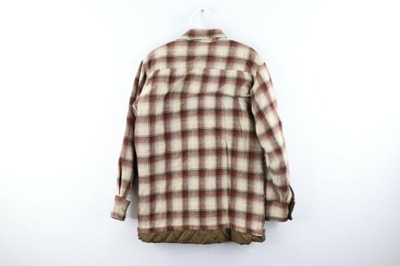 80s Rockabilly Mens Medium Double Pocket Quilt Li… - image 5