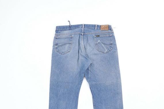 80s Lee Mens 38x29 Straight Leg Thrashed Distress… - image 8