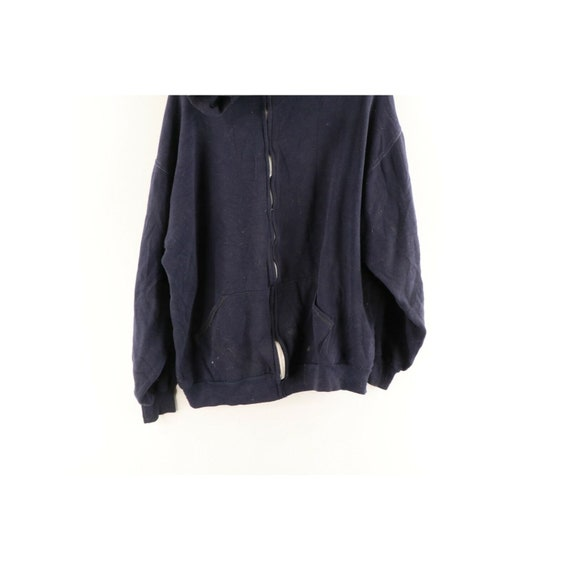 70s Russell Athletic Mens XL Blank Distressed Ful… - image 3