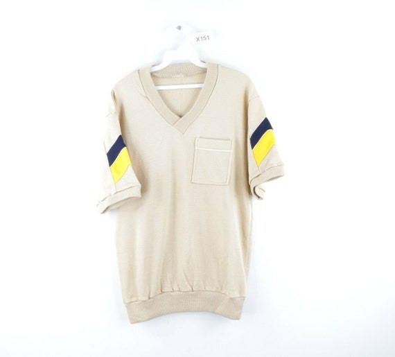 60s Mens Medium Streetwear Short Sleeve V Neck Poc