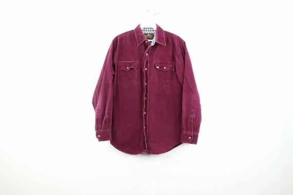 90s Streetwear Mens Small Micro Corduroy Double Po