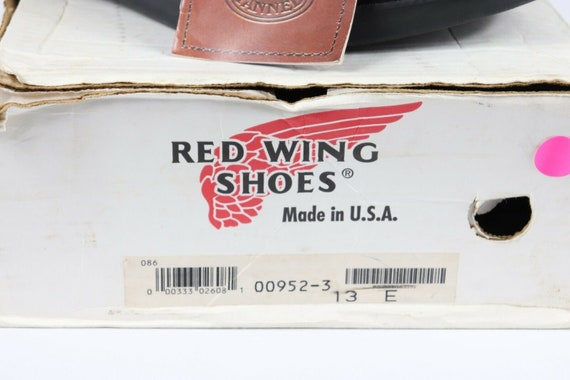 NOS Vtg 90s Red Wing Shoes Mens 13 E Oil Tanned L… - image 3