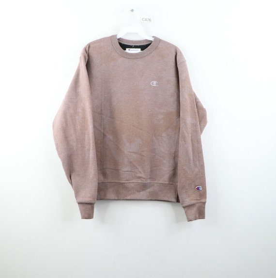Champion Mens Small Custom Dyed Acid Wash Crewneck