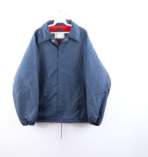 70s Rockabilly Mens XL Deep Pile Fleece Lined Coac