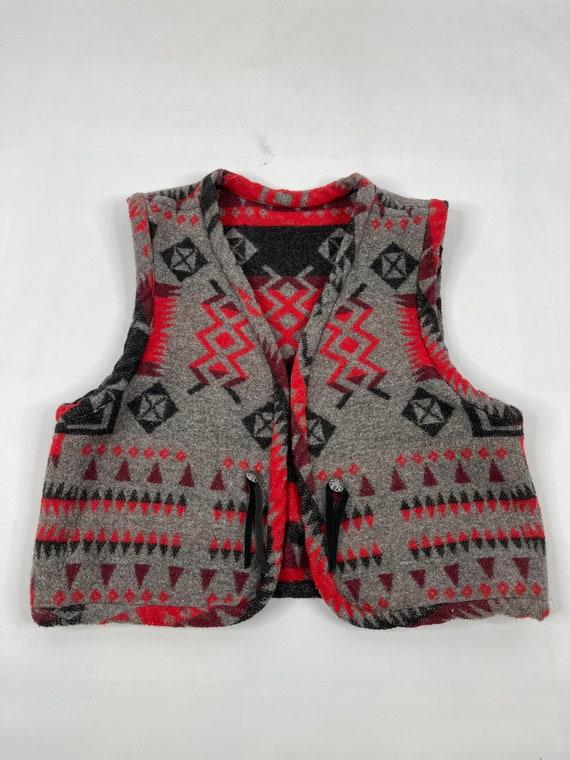 90s Boho Womens Large Multi Color Reversible Blank