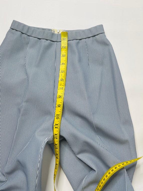 60s Mod Womens 6 Pinstriped 2 Piece Flare Pant Su… - image 7