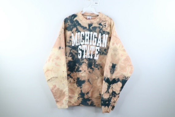 90s Mens XL Michigan State University Acid Wash Th