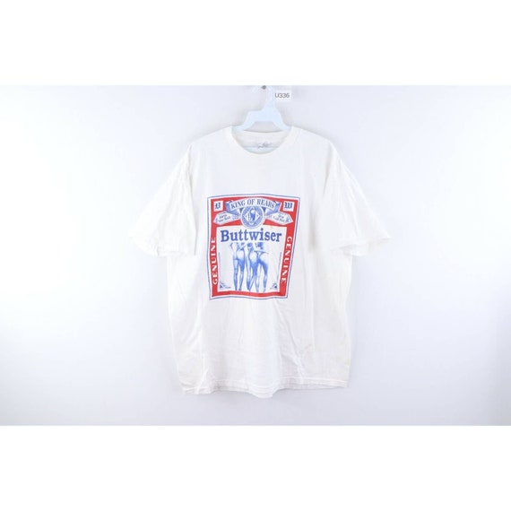 90s Mens XL Funny Buttwiser Budweiser Beer King of