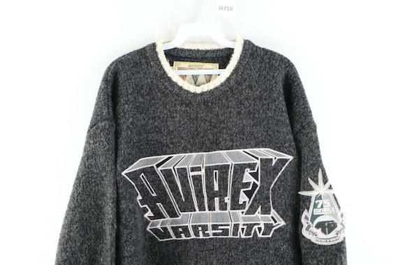 90s Avirex Varsity Mens XL Wool Acrylic Knit Spel… - image 2