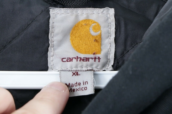 Vintage Carhartt Spell Out Distressed Lined Fire … - image 4