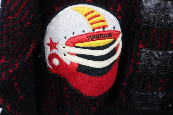 80s Streetwear Mens Medium Football Knit Varsity … - image 4
