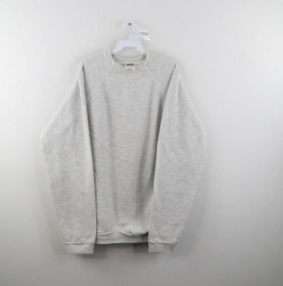 90s Streetwear Mens 2XLT Tall Blank Crewneck Sweat