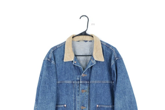 80s Ralph Lauren Mens XL Spell Out Corduroy Colla… - image 2