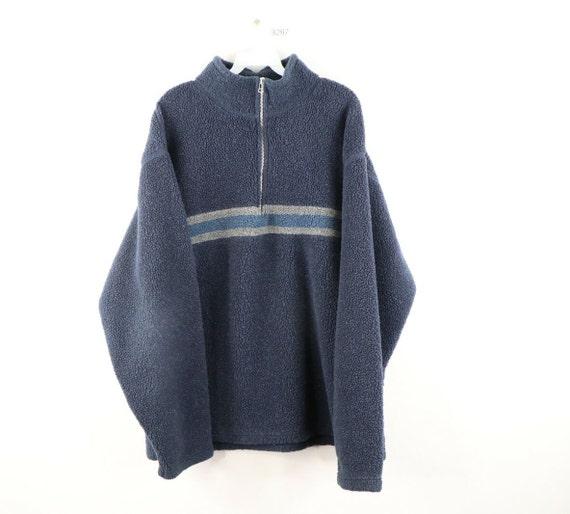 90s Streetwear Mens XL Long Sleeve Striped Deep Pi