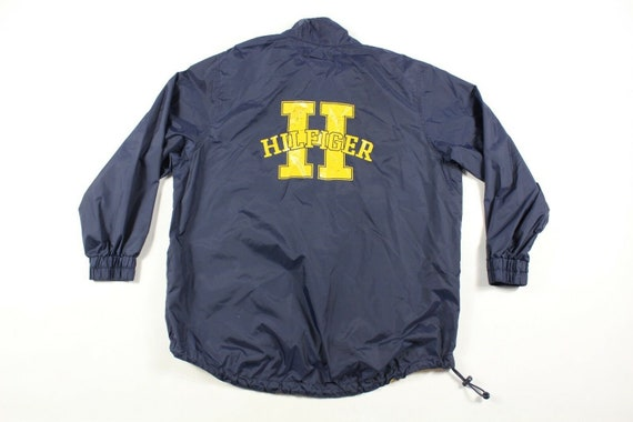 90s Tommy Hilfiger Mens Large Spell Out Anorak Win