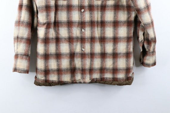 80s Rockabilly Mens Medium Double Pocket Quilt Li… - image 3
