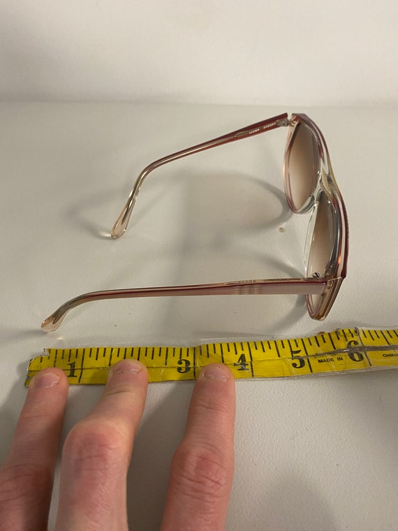 90s NOS Deadstock Clear Pink Acetate Sunglasses R… - image 9