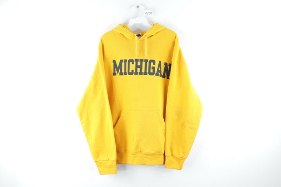 90s Mens XL University of Michigan Spell Out Distr