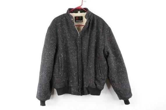 80s American Jac Mens XL Multi-Color Wool Sherpa L