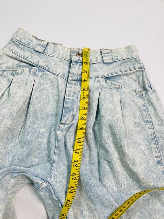 VTG 80s Streetwear Womens 10 Tapered Leg Acid Was… - image 9