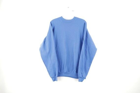 90s Streetwear Mens Medium Faded Blank Crewneck Sw