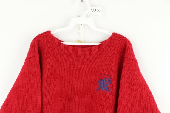 80s Ralph Lauren Womens Large Spell Out Crest Dou… - image 2