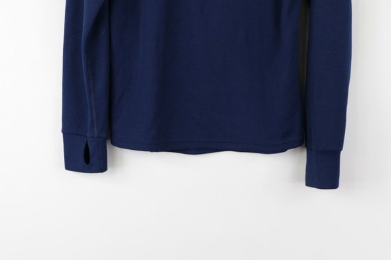 90s LL Bean Mens Large Long Sleeve Half Zip Therm… - image 3