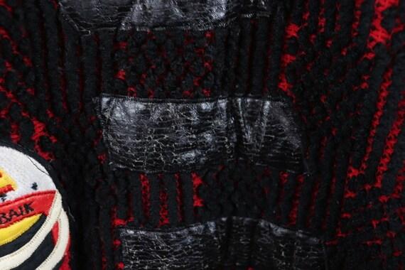 80s Streetwear Mens Medium Football Knit Varsity … - image 5