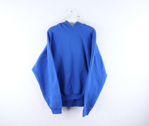 90s Streetwear Mens XL Blank Distressed Faded Hood