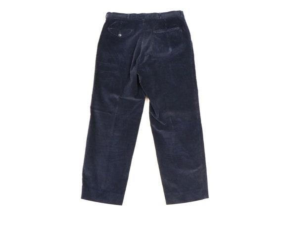 70s Rockabilly Mens 34x29 Straight Leg Faded Cord… - image 5