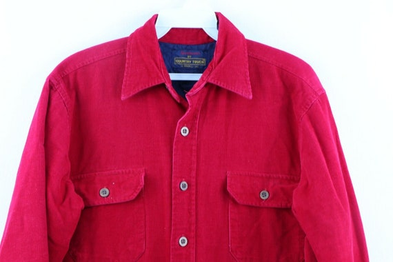 90s Streetwear Mens Small Double Pocket Micro Cor… - image 2