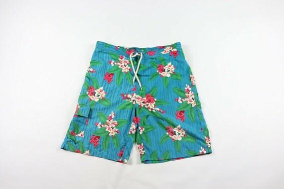 90s Ralph Lauren Mens Large Floral Hawaiian Swim T