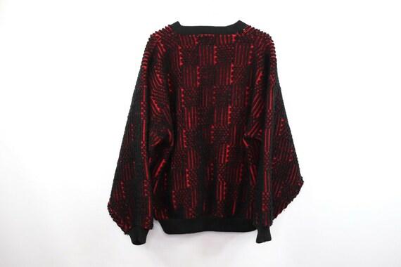 80s Streetwear Mens Medium Football Knit Varsity … - image 7