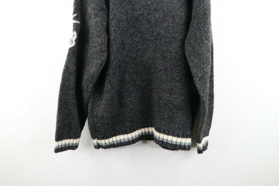 90s Avirex Varsity Mens XL Wool Acrylic Knit Spel… - image 10