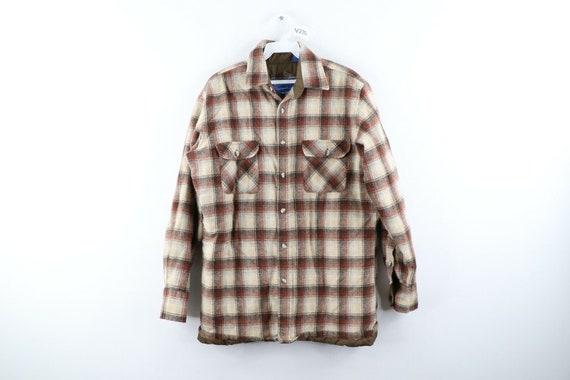 80s Rockabilly Mens Medium Double Pocket Quilt Li… - image 1