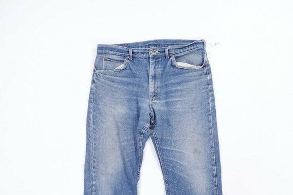 80s Lee Mens 36x28 Straight Leg Thrashed Distress… - image 2