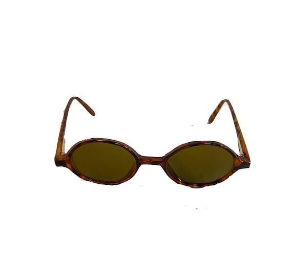 90s NOS Deadstock Acetatate Oval Sunglasses Torti… - image 1